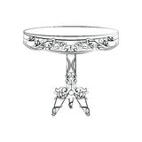 Elegant imperial classic round table Stock Photography
