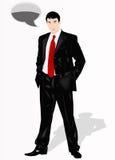 The elegant imposing businessman royalty free illustration