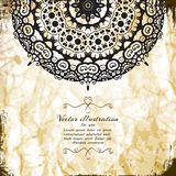 Elegant Indian ornamentation background. Royalty Free Stock Photos