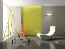 Elegant interior 3D rendering Royalty Free Stock Images
