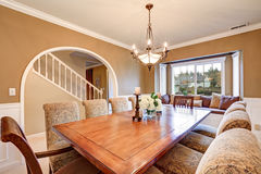Elegant interior design of formal dining room Stock Image