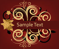 Elegant invitation card. Invitation card with space for text and gold decorations Stock Images