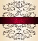 Elegant invitation card for design Royalty Free Stock Photo