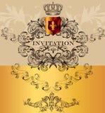 Elegant invitation card for design Stock Photos