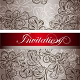 Elegant  invitation card for design Royalty Free Stock Photography