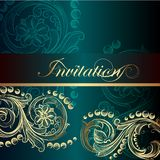 Elegant invitation card with floral elements Royalty Free Stock Photo