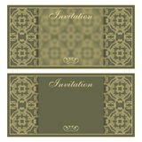 Elegant invitation card with flower pattern Royalty Free Stock Photos