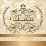 Elegant  invitation card in light  colors Stock Photo