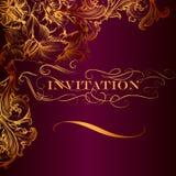 Elegant invitation card in luxury style Royalty Free Stock Photos
