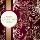Elegant invitation card with ornament Royalty Free Stock Photography