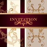 Elegant   invitation card with ornament Royalty Free Stock Photo