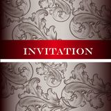 Elegant   invitation card with ornament  for design Stock Photography
