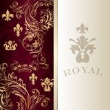 Elegant  invitation card in royal luxury style Royalty Free Stock Photography