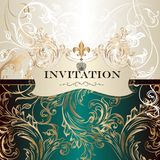 Elegant  invitation card in royal style Stock Image