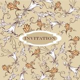Elegant invitation card with vintage ornament Stock Image