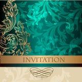 Elegant  invitation card in vintage style Royalty Free Stock Photo