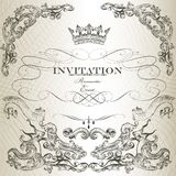 Elegant invitation card  in vintage style Stock Images