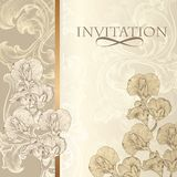 Elegant  invitation card in vintage style Royalty Free Stock Photo