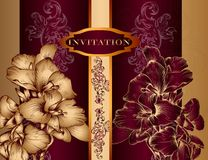 Elegant Invitation Design In Royal Style Royalty Free Stock Images