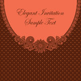 Elegant invitation with floral pattern Royalty Free Stock Photos