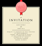 Elegant Invitation to the wedding. Or announcements Stock Photo