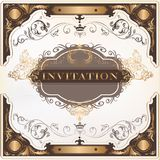 Elegant invitation vector card for design Royalty Free Stock Images