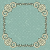Elegant invitation with a vintage frame Royalty Free Stock Image