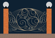 Elegant iron fence Royalty Free Stock Photography