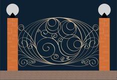Elegant iron fence Royalty Free Stock Photography