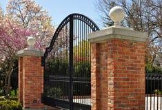 Elegant iron gate Royalty Free Stock Images