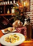 Elegant Italian dinner Royalty Free Stock Image