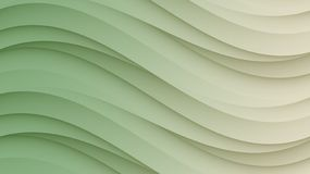 Elegant ivory green smooth sloping curves horizontal format abstract background stock illustration