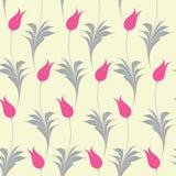 Elegant Iznik style tulips seamless pattern stock illustration