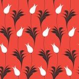 Elegant Iznik style tulips seamless pattern vector illustration