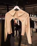 Elegant jacket on display at Mipap trade show in Milan, Italy Stock Image