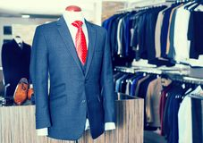 Jacket with shirt and tie on mannequin Royalty Free Stock Photography