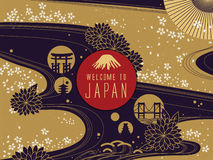 Elegant Japan travel poster vector illustration
