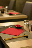 Elegant Japanese / Chinese restaurant, close up with blurred background Stock Images