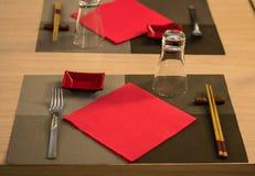 Elegant japanese / chinese restaurant Royalty Free Stock Photo