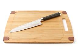 Elegant japanese knife, isolated on white Royalty Free Stock Photo