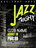 Elegant jazz night poster design Royalty Free Stock Photography