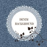 Elegant jeans background and frame Royalty Free Stock Image