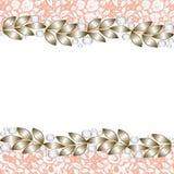 Elegant jewelry border Stock Photo