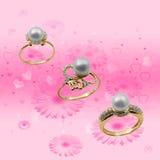 Elegant jewelry in flowers stock photography