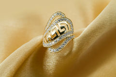 Elegant jewelry ring Stock Image