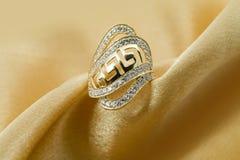 Elegant jewelry ring stock image