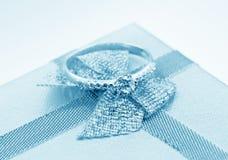 Elegant jewelry ring with brilliants Stock Photos