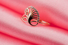 Elegant jewelry ring with jewel Royalty Free Stock Photo
