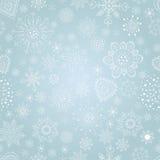 Elegant julbakgrund med snöflingor Arkivbild