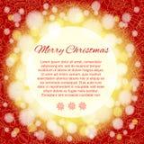 Elegant julbakgrund med stället för text. Royaltyfria Foton